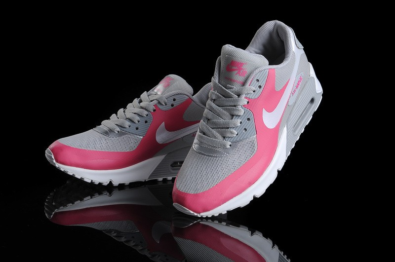 Nike Air Max 90 Hyperfuse Premium Chaussures Blanc Argent Rose